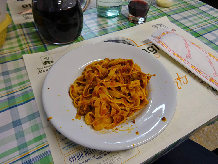 Tagliatelle with wild boar sauce